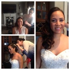 #BTS #beforeandafter with #bride Vanessa #makeup by Maya Goldenberg hair by Melissa N. #Natural #organic #glowingskin #smokeyeye #strobing #brows www.mayagoldenberg.com