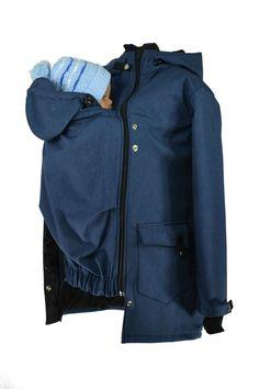 TĚHOTENSKÉ, NOSÍCÍ OBLEČENÍ | Softshellový nosící kabát jaro/podzim, modrý žíhaný | Punk a metal oblečení | Punk shop SHARA Rain Jacket, Windbreaker, Raincoat, Punk, Jackets, Fashion, Down Jackets, Moda, La Mode
