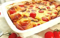 Clafoutis aux tomates cerises et fromage de chèvre léger, une recette facile et simple à réaliser pour un plat léger pour le soir.