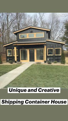 Shipping Container Home Designs, Container House Design, Tiny House Design, Modern House Design, Villa Design, Shipping Container Houses, Modern Tiny House, Shipping Containers, Metal Building Homes