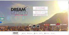 Site Dream Weekend www.dreamweekend.com.br criação: www.mwcreator.com.br Comunicação e design