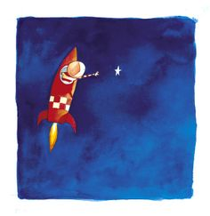 I must have! A watercolor painting by Oliver Jeffries for the book 'How to Catch a Star'