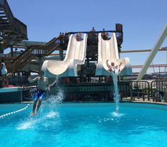 Raging Waters Water Park at Morey's Piers, Wildwood, NJ - overlooking the Atlantic Ocean!