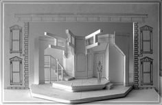Act II White Model. #Sherlock's Last Case - Produced by The New York State Theatre Institute in Albany New York. The #setdesign by #RichardFinkelstein.