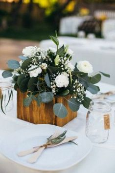 Romantic wedding centerpieces idea 13