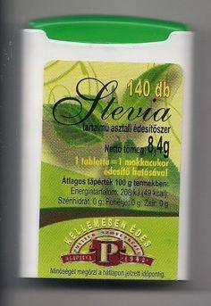 Stevia tartalmú asztali édesítõ tabletta 140 db
