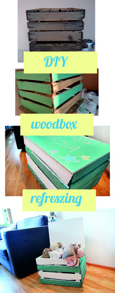 Woodbox, container, seat, DIY, wood box. chalkboard. Turquoise and white.