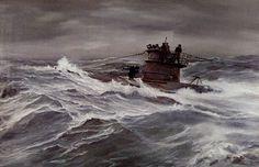 German U-Boat at sea