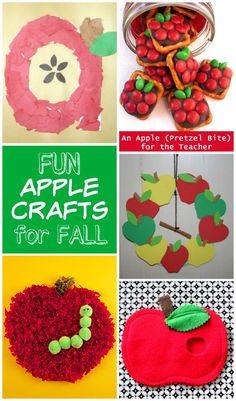 10+ FUN apple crafts for FALL
