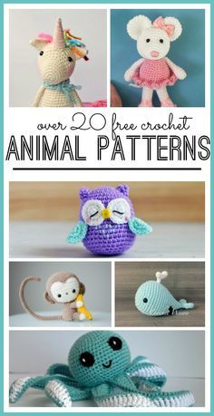 Tons of Super CUTE Animal Crochet Patterns - Sugar Bee Crafts