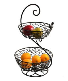 Another great find on #zulily! Two-Tier Fruit Basket #zulilyfinds