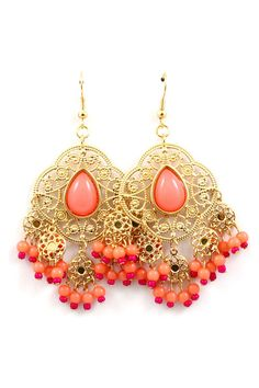 Dreamy Blush Chandelier Earrings on Emma Stine Limited   Love these!