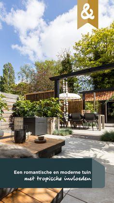 In de laatste aflevering van dit seizoen gaan Tom, Huib en Denise aan de slag in Beverwijk. De sportieve Steven en Moniek hebben hier een half jaar geleden hun eerste koophuis gekocht. Van binnen ziet het er tiptop uit, maar hun tuin is nog altijd een groot, kaal tegelplein. Aan ons de leuke taak om hier een tropische tuin met Ibiza-sferen van te maken! #eindresultaat #beverwijk #tuin #romantisch #tropisch #eigenhuisentuin Kensington House, Fire Pit Backyard, Garden Inspiration, The Great Outdoors, Patio, Outdoor Decor, Gardening, Beautiful, Home