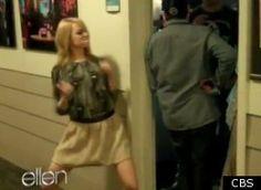 Emma Stone dance dare on Ellen. Love her!