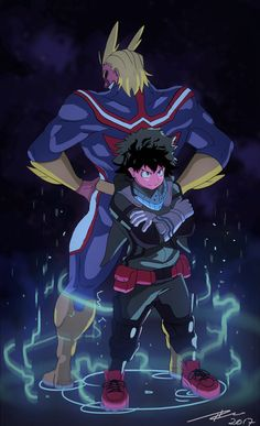 Drew All Might and Deku : BokuNoHeroAcademia