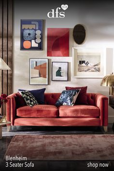 """""""A bold boho mood returns for winter. Personality is injected into the room through the use of vibrant colour, strong shapes and inspiring artwork. Living Room Furniture, Living Room Decor, Living Room Goals, Living Room Remodel, Interior Design Studio, Interior Inspiration, Interior Ideas, Room Inspiration, Room Set"""