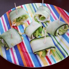 Eating healthy #likeaboss. Avocado turkey cheddar and green pepper all rolled up in cucumber ribbons. #somessy #soworthit by gettinmyhealthyon #running #ownyourmarks #run