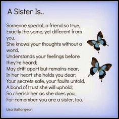 I miss you so much Sisters, I feel lost without you and at times I want to cry because you're so far away! My Sister Quotes, Sister Poems, Sister Sayings, Sister Cards, Prayers For My Sister, Daughter Poems, Friend Quotes, Father Daughter, I Feel Lost