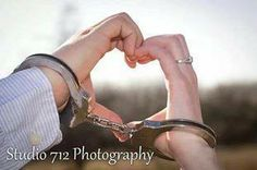 Police Wedding Handcuffs - Police Photography Engagement Pictures, Engagement Shoots, Wedding Pictures, Wedding Engagement, Line Photography, Couple Photography, Wedding Photography, Police Officer Wedding, Police Wife