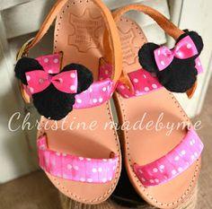 Παιδικά πεδιλάκια σε ροζ πουά Minnie