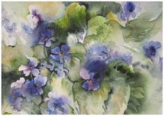 wild violet painting images | Painting | Angela Fehr, artist