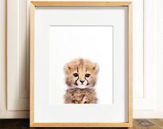 Safari animal prints, Baby cheetah print, PRINTABLE nursery art, Safari nursery decor, Safari animals, Nursery wall art, Nursery wall decor