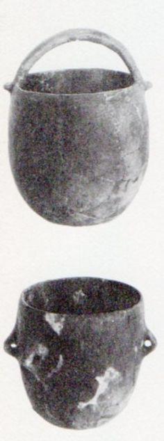 Çatalhöyük,Seramik çömlekler, Konya Arkeoloji Müzesi, James Mellaart (Erdinç Bakla archive)