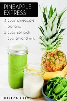 Spinach is so easy to sneak into smoothies! Flavorless, but full of fiber, so very filling. For a lesser calorie version, use juice or water instead of milk