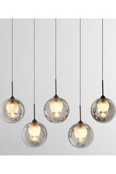 Masako LED glass Diner Pendant, Smoked and Frosted glass Blown Glass Pendant Light, Blown Glass Chandelier, Glass Pendants, Glass Vanity, Kitchen Island Lighting, Grey Glass, Leaded Glass, Coups, Vanity Lighting