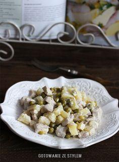 Sałatka z kurczakiem i ananasem   gotowanie ze stylem