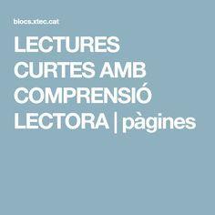 LECTURES CURTES AMB COMPRENSIÓ LECTORA   pàgines