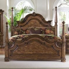 6/6-6/0 Poster Footboard King size Queen Beds, King Beds, California King Beds. Type Four Poster Beds. Assembly Assembled On Delivery. Assembled Size Height 57 in.. Assembled Size Width 8 in..  #Pulaski #Home
