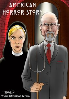 An American Gothic Parody Featuring Cast Members From TVs Horror Story