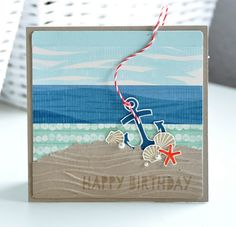 Stampin' Up! Seaside Theme, Sea Theme, Octopus Card, Nautical Cards, Beach Cards, Birthday Cards For Men, Happy Birthday, Kids Cards, Fun Cards