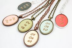 Mother's Day gifts under $25: Personalized date pendant | once again sam