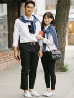 Korea's Matchy-Matchy Couple Outfits Take Relationships To The Next Level #refinery29 - Though the outfits are cute, but I still don't think I'm able do a matchy-matchy couple outfits (nuh-uh, not my style)!