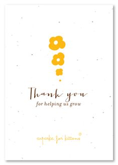 Seeded Paper Thank You For Your Business Notes