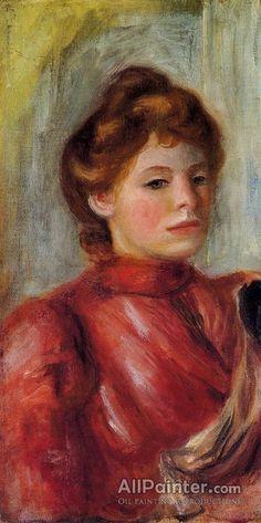 Pierre Auguste Renoir Portrait Of A Woman oil painting reproductions for sale