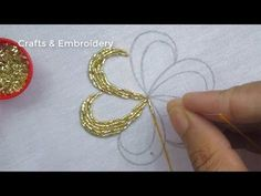 Hand Embroidery, Flower Embroidery Tutorial with Pearls - # Pearls # Embroidery # Flowe . Hand embroidery, floral embroidery tutorial with pearls # pearls Bead Embroidery Tutorial, Hand Embroidery Videos, Bead Embroidery Patterns, Hand Embroidery Flowers, Hand Work Embroidery, Flower Embroidery Designs, Bead Embroidery Jewelry, Silk Ribbon Embroidery, Pearl Embroidery