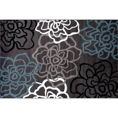 World Rug Gallery Alpine Contemporary Modern Fl Flowers 330 Liked On Polyvore