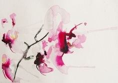 Saatchi Online Artist: Karin Johannesson; Watercolor, 2013, Painting Orchid study III