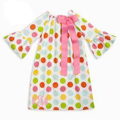 Girls Multi Dot Charlotte Dress