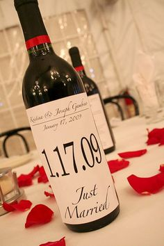 Brett (at The Polka Dot Princess)....this is your job for Janay's wedding....printing wine labels.