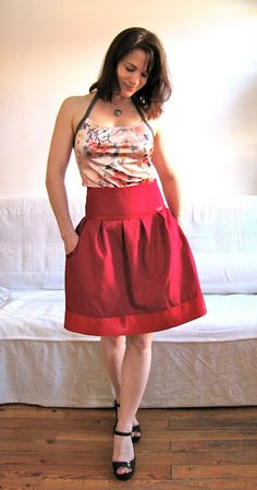 circle skirt with pockets. full tutorial!