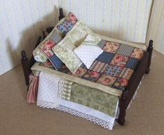 how to: dressing the miniature bed