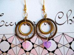 Pink hearts earrings. €16.00, via Etsy.