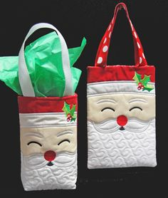 Santa Tote or Gift Bag Embroidery Article