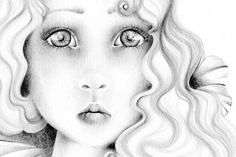 Pencil Drawing OOAK an Original Pencil Drawing Fine Art Fantasy Illustration / Drawing  Black and White grey ohtteam on Etsy, $300.00