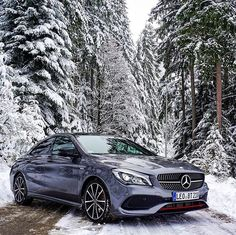 Mercedes-Benz CLA 250 Sport 4MATIC Coupé, the perfect snow vehicle? #MBSnowPhoto by @turbo_temme #Mercedes #CLA #MercedesBenz #Luxury #Lifestyle #Snow #Winter #Wonderland #Cartastic #InstaCar #Car #Cars [Mercedes-Benz CLA 250 Sport 4MATIC Coupé - Fuel consumption 6.8 l/100 km | CO2 emission combined 160 g/km]