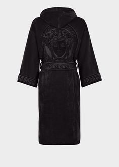 Greek Key Bathrobe by Versace Home. The I ♥ Baroque jacquard bathrobe is crafted in absorbent cotton with printed borders. Affliction Clothing, Versace Home, Versace Fashion, Mens Velour Tracksuit, Versace Tracksuit, Versace Bathrobe, Lingerie, Fashion Outfits, Womens Fashion